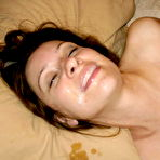 Second pic of Cum On Wives - Real submitted pics of amateur housewives getting cumshots!