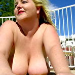 Third pic of Chubby Loving - Fat Bigtits Blonde Posing Near Pool