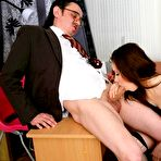 Second pic of Tricky Old Teacher - Nice Teen Coed Zhenia Inness Fucked By Professor