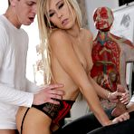 Second pic of French blonde Lola Reve takes it from behind and gets her ass jizzed