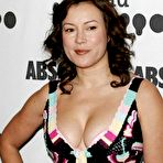 First pic of Busty Jennifer Tilly deep cleavage and areola slip