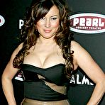 Second pic of Busty Jennifer Tilly deep cleavage and areola slip