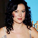 Third pic of Busty Jennifer Tilly deep cleavage and areola slip