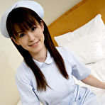 First pic of Naughty nurse Himeno plays peek a boo panties