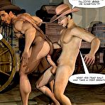 Third pic of Gay cowboys adventures – horsey style: rare 3D gay comics and anime fantasy about gay hunks hardcore experiments outdoors in the Wild West