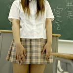 First pic of Amazing japanese schoolgirl posing in the classroom