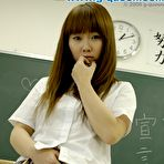 Third pic of Amazing japanese schoolgirl posing in the classroom