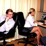 Second pic of Creamedonglasses - secretaries covered in thick spunk!