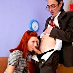 Second pic of Tricky Old Teacher - Dirty Professor Fucks Young Redhead