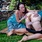 Second pic of Veronica and friend share hot lesbian outdoor play : WeAreHairy.com