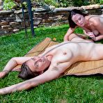 Third pic of Veronica and friend share hot lesbian outdoor play : WeAreHairy.com
