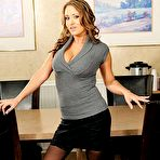 First pic of porn star Trina Michaels gets pounded on top of the meeting room table!