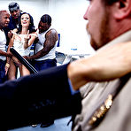 Second pic of Hailey Young gets gangbanged by three black prisoners