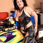 Second pic of Scoreland.com - Slone Ryder - Bad Ass Motorcycle Mama
