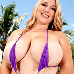 Second pic of Melissa Manning Purple Bikini for Scoreland - Prime Curves