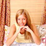 First pic of Nubiles.net - featuring Nubiles Anette in bed-teen-posing