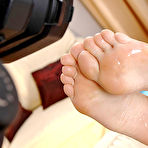 Fourth pic of Barbie Night & Thomas Stone : | Footjob | : Free picture gallery : Hot Legs & Feet - Foot fetish megasite feat. xxx barefoot pics, toe sucking, the most beautiful leg & foot models, hardcore sex, teen girl/girl foot sex, female feet movies &amp