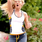 First pic of Alison Angel - Alison Angel jogs in the morning to show off her yummy and naked boobs freely.