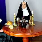 Fourth pic of Horny Sex Nuns Brandy and Kali in The Lords Supper Christmas Porno