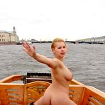 First pic of Dirty Public Nudity. Luba pissing on the boat