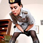 Second pic of OWK - Mistress Laudana in uniform punishing filthy pig