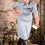 Fourth pic of OWK - Mistress Laudana in uniform punishing filthy pig