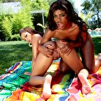 Third pic of Angel Cummings and Mariah Kakes:Two ebony outdoor