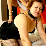 First pic of Mature lesbian slave gets her fill