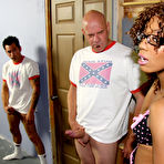 Second pic of Cum Bang.com! - Ebony Beauties and Redneck White-Boys - Bukkake Style!