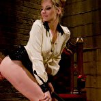 Third pic of free image gallery from Men in Pain - Gorgeous Dominatrix Cattle Prods slave and ass fucks him