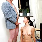 Fourth pic of Tricky Old Teacher - Teen Brunette Pleasing Aged Professor Dick