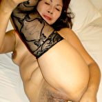 Third pic of Mature Asian Sally showing off old pussy