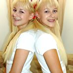 First pic of Milton Twins - cute blonde teen twins playing with her horny lesbian girlfriend