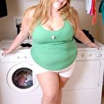 First pic of Chubby Loving - Fat Blonde Modelling In Laundry Room