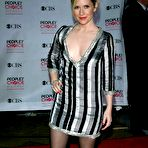 Fourth pic of Emily Procter braless showing huge cleavage in a hot mini dress at the 33rd Annual People's Choice Awards in LA