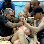 First pic of GangBang Squad - Hot blonde giving her's pussy for many guys for GangBang Squad