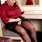First pic of Chubby Loving - Fat Milf In Stockings Spreading