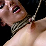 Fourth pic of Sexually Broken | Inescapable Bondage, Brutal Bondage Sex, Devestating Orgasms | Wenona get roughly deep throated, her HUGE nipples bound so she must keep her legs raised!