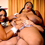 Third pic of Cotton Candi & Shanice Richards Hardcore BBW Sex on PlumperPass