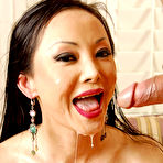 Third pic of Busty longhaired Asian babe Ange Venus dripping with cum