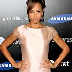 First pic of Dania Ramirez leggy wearing mini dress at Samsung Infuse 4G For AT&T Launch Event