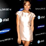 Second pic of Dania Ramirez leggy wearing mini dress at Samsung Infuse 4G For AT&T Launch Event