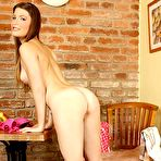 Fourth pic of Naughty Tall Coed Zena Little Gets Wild In Her Kitchen