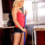 First pic of Anikka Albrite naughty maid fucking her boss in the kitchen