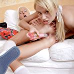 Fourth pic of PinkFineArt | Mia and Janette Toying from Teen 18 Lesbians