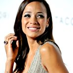 First pic of Dania Ramirez braless showing cleavage at Tacori City Lights launch party in West Hollywood