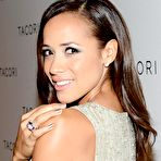 Second pic of Dania Ramirez braless showing cleavage at Tacori City Lights launch party in West Hollywood