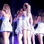 Third pic of Girls Aloud performs on the stage in Sheffield