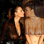 Fourth pic of Sex Previews - Sensual Jane lezdom in latex spanks bound fetish girl Jelena Jensen outdoors