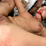 Second pic of SexPreviews - Vanessa secretary is bound by her boss and friends to fuck every hole and fill with cum